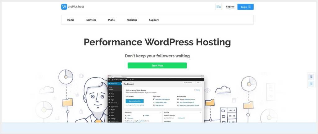 Wordplus.host - free wordpress hosting