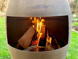 outdoor fireplace exhaust nozzle