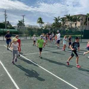 Summer tennis camp at Gulfstream