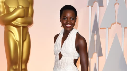 Lupita Nyong'o attends the 87th Annual Academy Awards on February 22, 2015 in Hollywood, California.