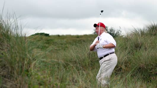 Image result for trump golf