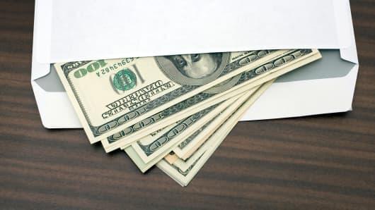 Cash in envelope savings