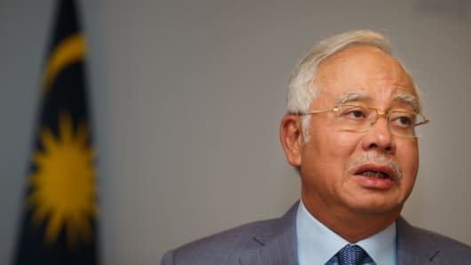 Najib Razak, Prime Minister of Malaysia.