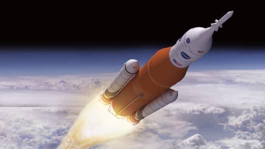 Image result for sls rocket