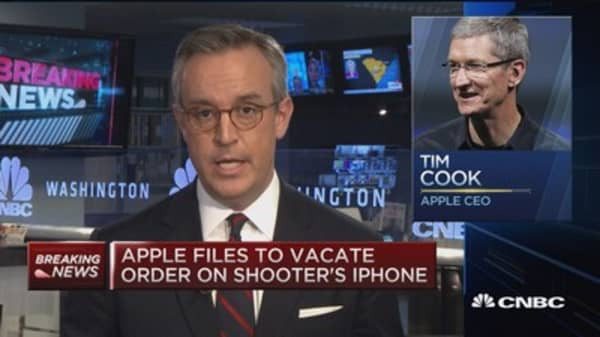 Apple files motion to vacate order compelling FBI assistance