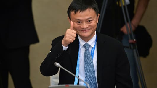 Jack Ma, founder of Alibaba Group. Alibaba recently said it has become the largest retailer in the world as measured by annual gross merchandise volume.