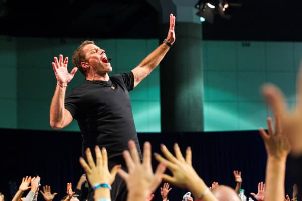 Tony Robbins at a speaking event