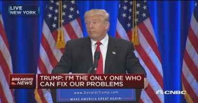 Image result for trump only i can fix it