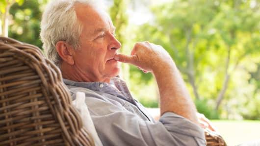 Senior man pensive