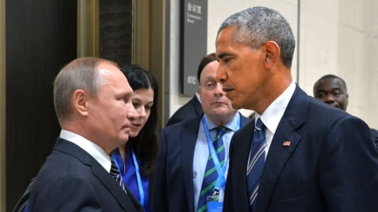 Image result for PUTIN AND OBAMA
