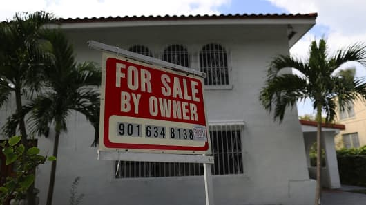 A for sale sign is posted in front of a home as interest rates for home loans climbed to nearly 4% in the wake of the election of Donald Trump to be the U.S. president on November 17, 2016 in Miami, Florida.