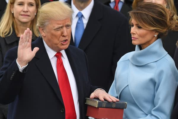Image result for Swearing In of President Donald J Trump