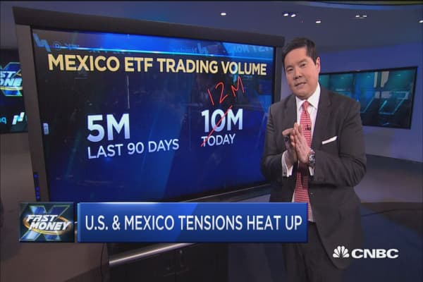 A look at currency as U.S.-Mexico tensions heat up