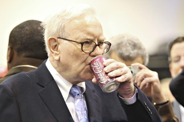 Warren Buffett drinks several cans of Coke a day.