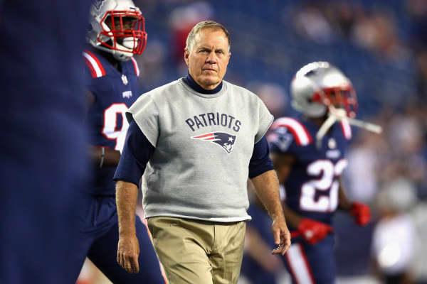 El entrenador en jefe de New England Patriots Bill Belichick