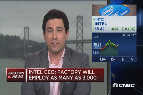 Intel CEO: To invest $7B in Arizona chip factory