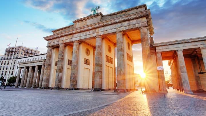 Βερολίνο, πύλη του Βρανδεμβούργου, Γερμανία.