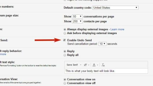 CNBC Tech: Undo send gmail