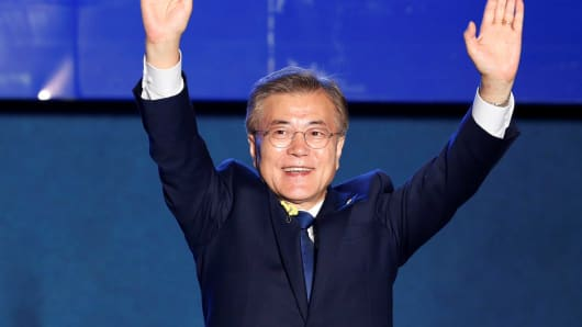 Image result for moon jae in