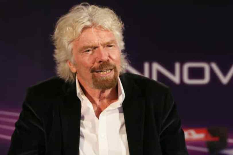 Sir Richard Branson en la Cumbre de Innovación en Brooklyn, Nueva York, el 14 de julio de 2017.