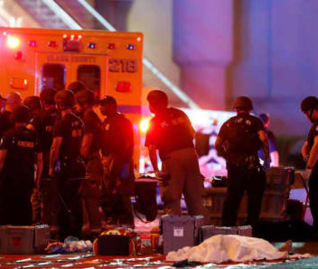 A Scene After A Mass Shooting At A Music Festival On The Las Vegas Strip In
