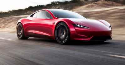 Tesla CEO Elon Musk unveils a surprise new car: A new roadster