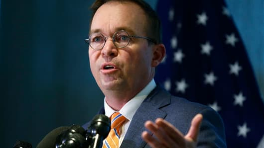 CFPB can t be a  gold standard  agency while it s still  Elizabeth     Mick Mulvaney