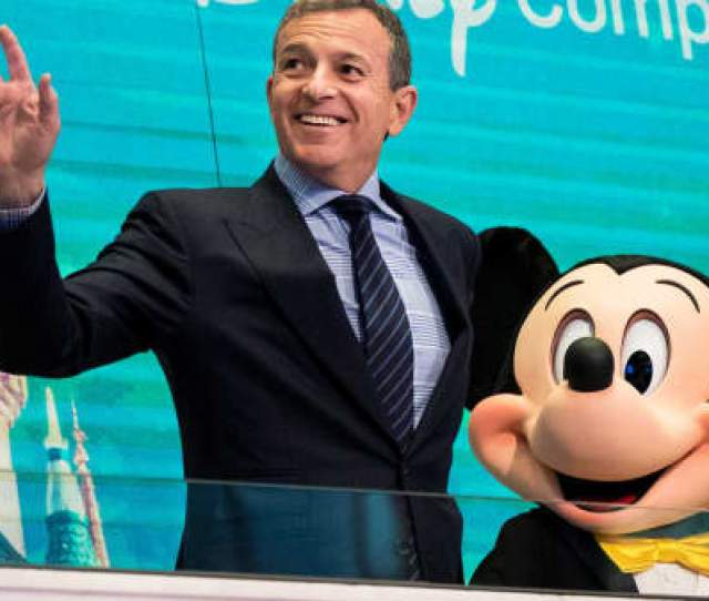 Chief Executive Officer And Chairman Of The Walt Disney Company Bob Iger And Mickey Mouse Look
