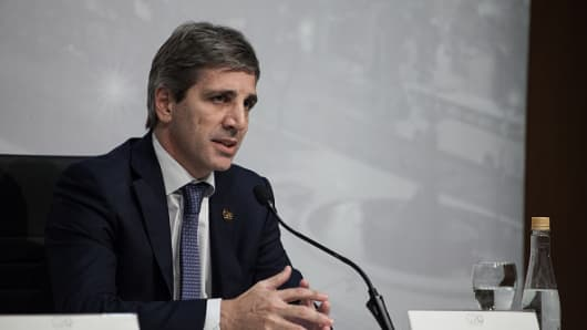 Luis Caputo, the former president of Argentina's central bank.