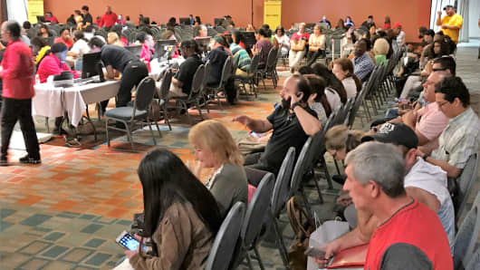 Potential borrowers who are participating in the NACA Homeownership event in Miami, Florida.