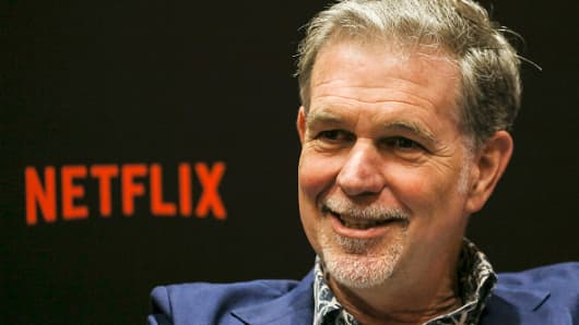 Netflix CEO Reed Hastings speaks during an interview on day two of the Netflix See Next Next event: Asia at Bay Sands Marina on November 9, 2018 in Singapore.