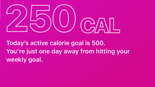 Users can set weekly calorie goals with the Attain app