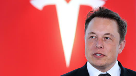 Elon Musk, co-founder and chief executive officer of Tesla Motors.