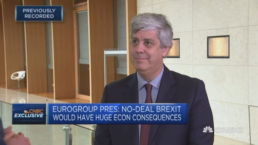 No deal Brexit the biggest risk we face, Eurogroup president says