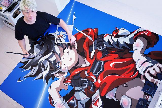 松浦 浩之展 SUPER ACRYLIC SKIN「子供の頃、画用紙いっぱいにキャラクターを描くだけで幸せだった。」*協働スキンテーションNAVI