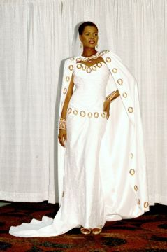 african wedding dress cape
