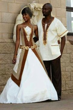 african wedding dress prints