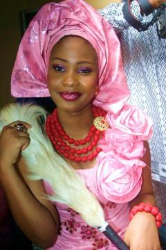 african wedding pink dress