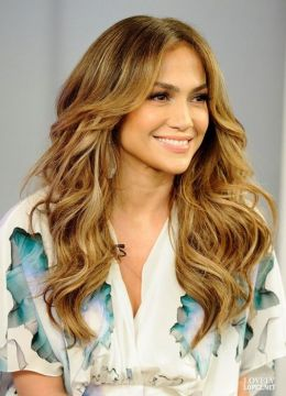 jennifer lopez layered hair
