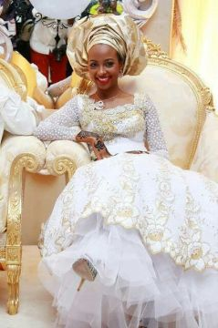 nigerian white wedding dress