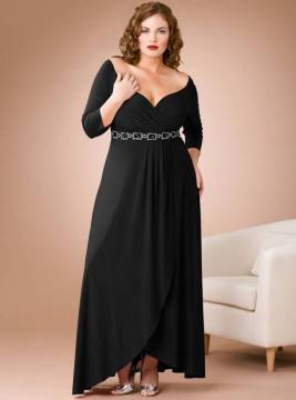 plus size maxi lbd evening