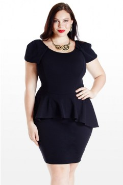 plus size peplum dress short sleeves