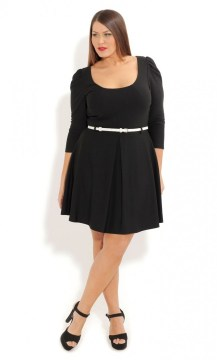 plus size skater dress long sleeves