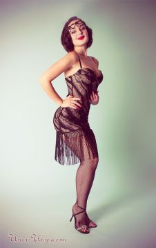 sexy modern flapper dress
