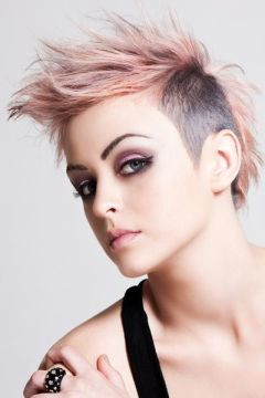 short and sweet mohawk