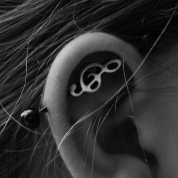 musical note industrial piercing