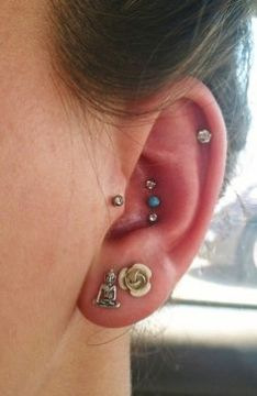small triple conch piercing