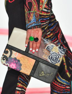 colorful, beautiful nail designs from Desigual