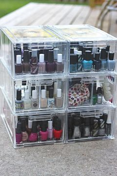 clear nail polish case