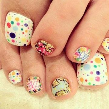 creative toe nail design